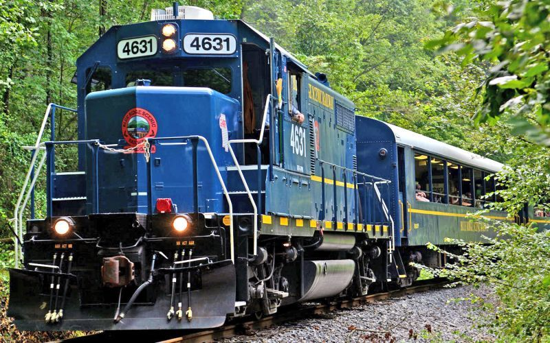 Blue Ridge Scenic Railway train ride for kids in the Blue Ridge mountains of North Georgia
