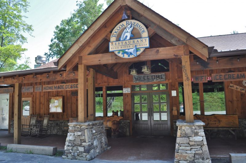 Toccoa Riverside Restaurant in the Blue Ridge mountains of North Georgia