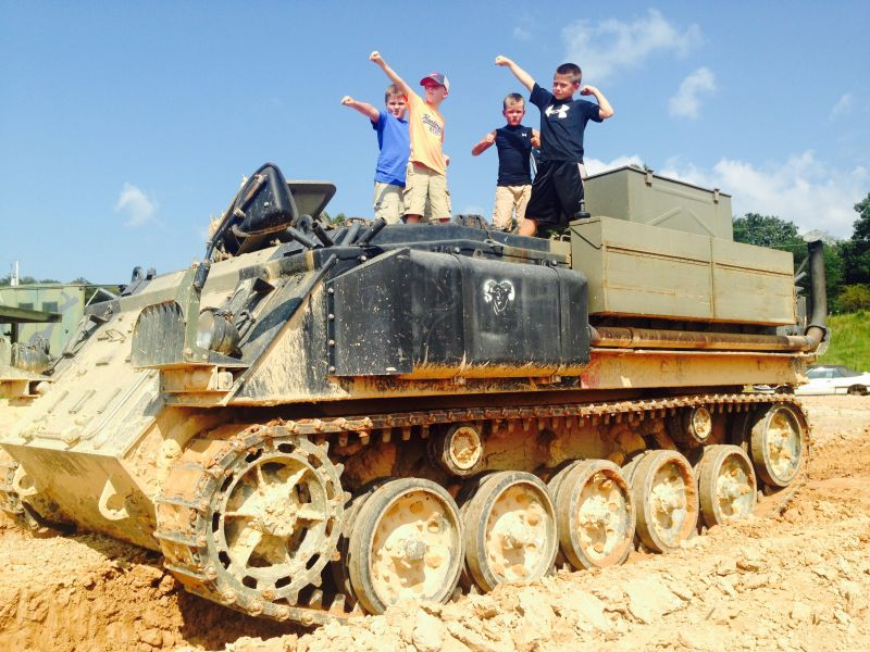 Tank Town USA for kids in the Blue Ridge mountains of North Georgia