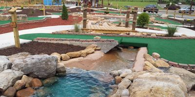 Cohutta Cove Mini Golf for kids in the Blue Ridge mountains of North Georgia